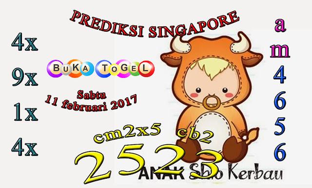 PREDIKSI SGP BOCORAN SINGAPORE HARI SABTU 11 FEBUARI 2017