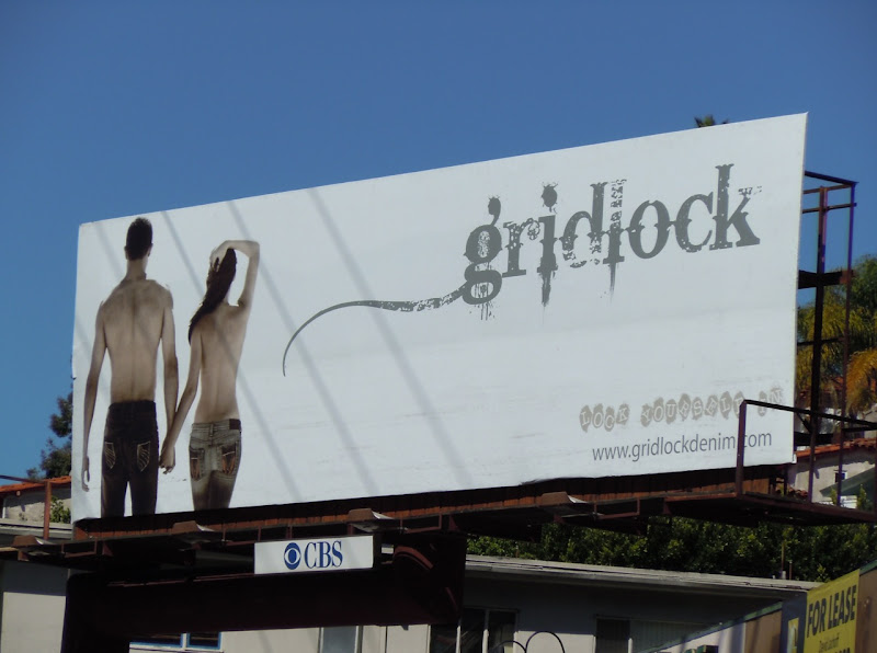Gridlock jeans backs billboard