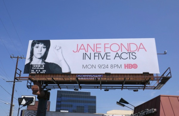 Jane Fonda In Five Acts documentary billboard
