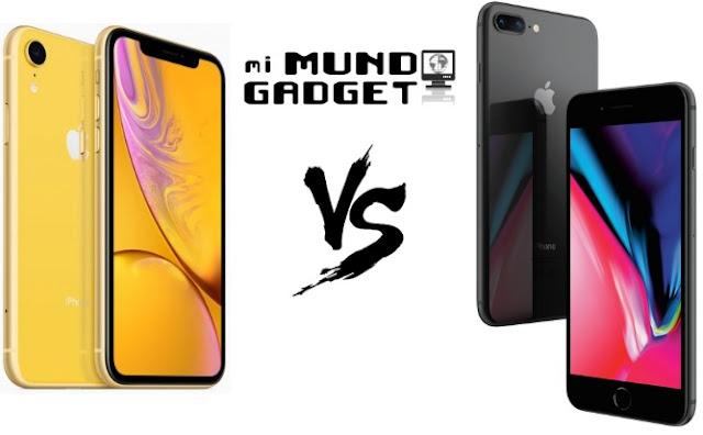 Comparativa del iPhone XR vs iPhone 8 Plus