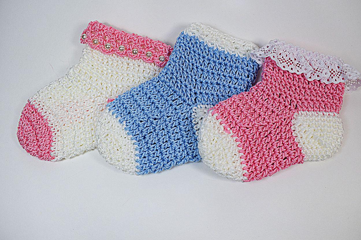 Patrón De Calcetines De Bebe A Crochet