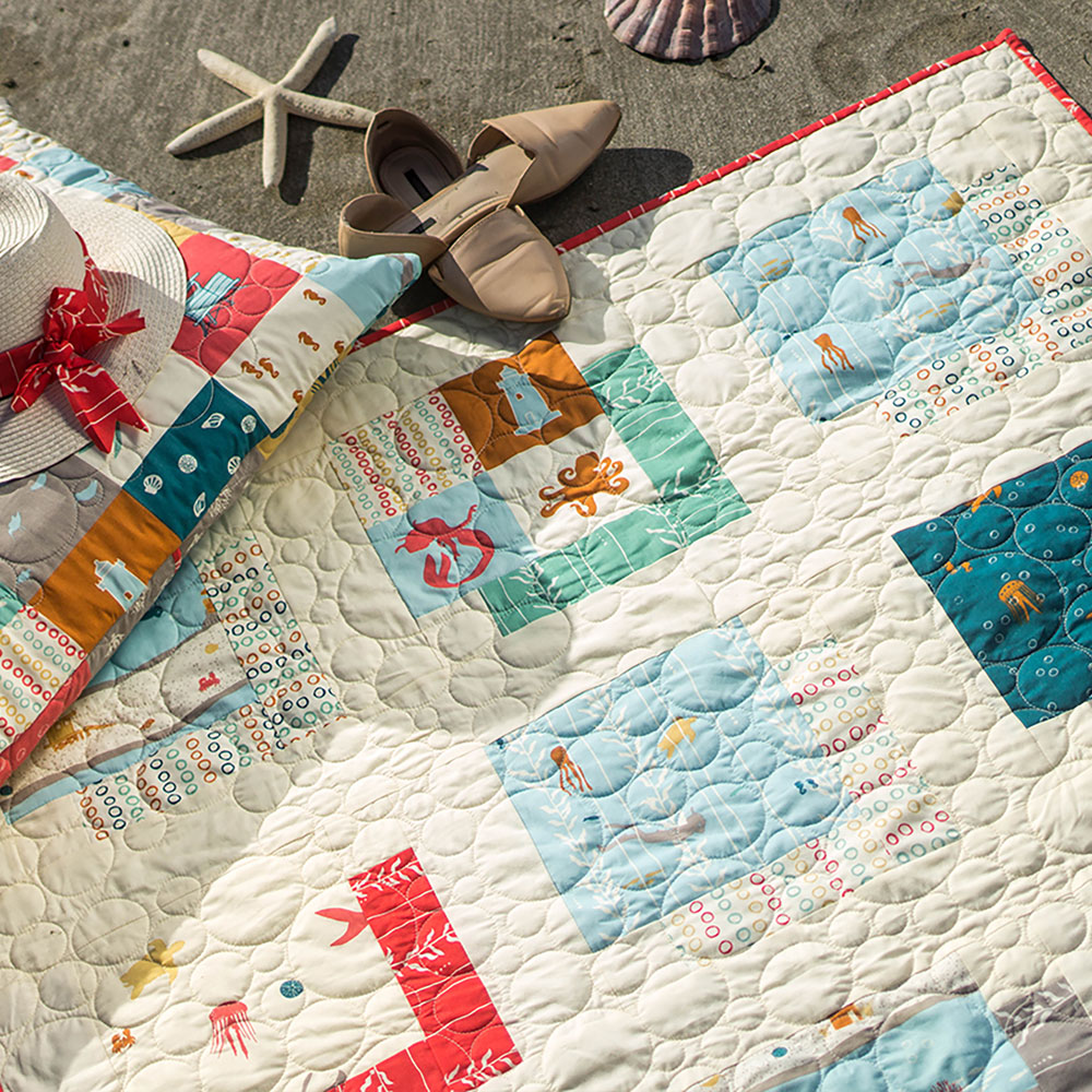Free Pattern | Sea Squared Quilt