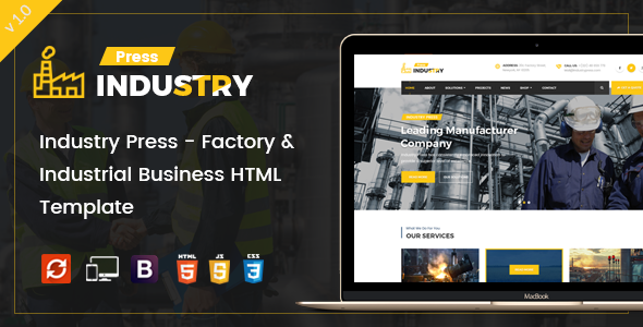 Industry Press - Factory & Industrial Business HTML Template ...
