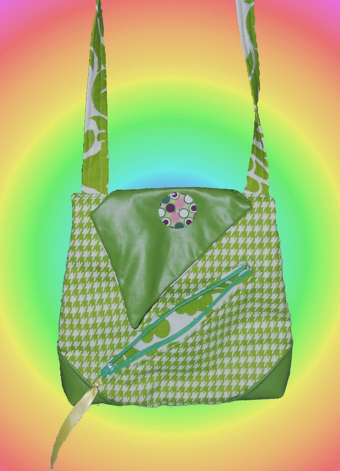 Hot Hues Convertible Crossbody Fooler Bag designed by eSheep Designs