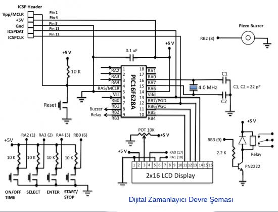 PIC 16F628A Programlanabilir Dijital Zamanlayıcı. ~ Defersite
