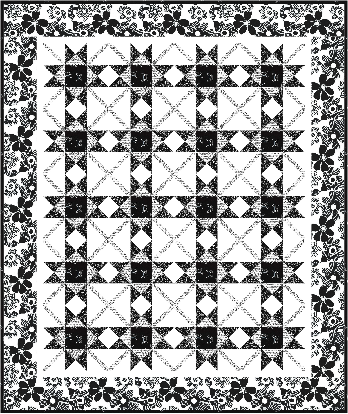 quilt quilted aztec and salvada white share cotton htm charcoal black design amp