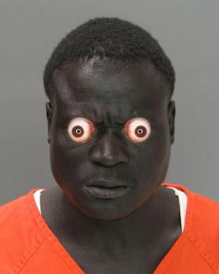 negro, naranja, ojos saltones