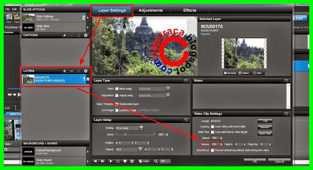 Cara menghilangkan suara video dengan Proshow Producer