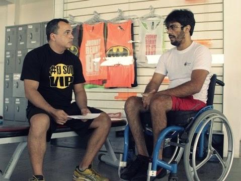 Gilson Albuquerque conta a história de superação de aluno paraplégico