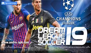 تحميل لعبة dls 19 مهكرة  بمود champions league برابط مباشر (ميديافاير)
