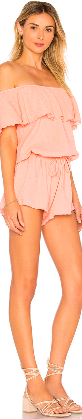 EBERJEY NOMAD TULA ROMPER CANDLELIGHT PEACH