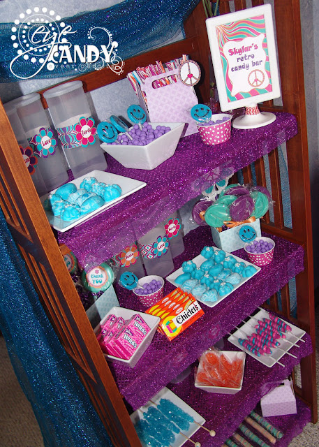 retro candy bar for peace party