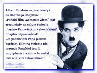 Liścik Alberta Einstein do Charliego Chaplina
