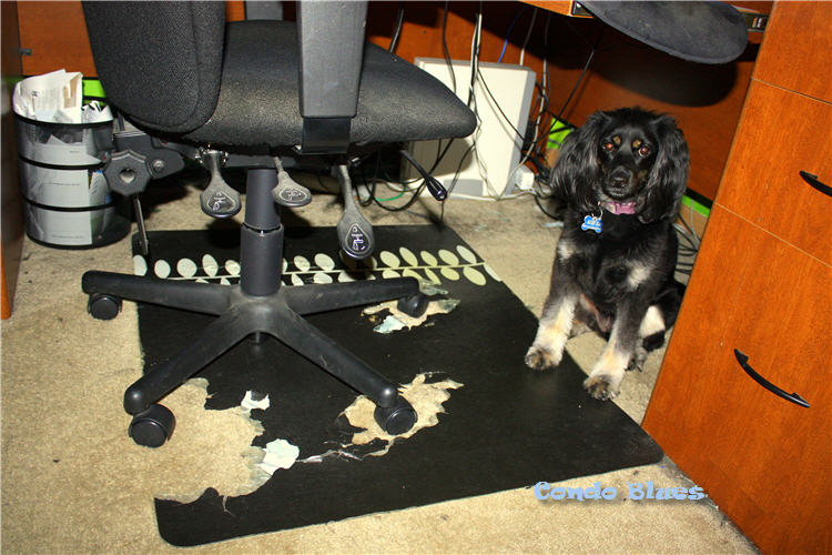 Condo Blues How To Make An Office Chair Mat