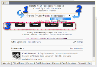 , empty my facebook inbox