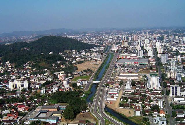 Vista érea de Joinville - SC