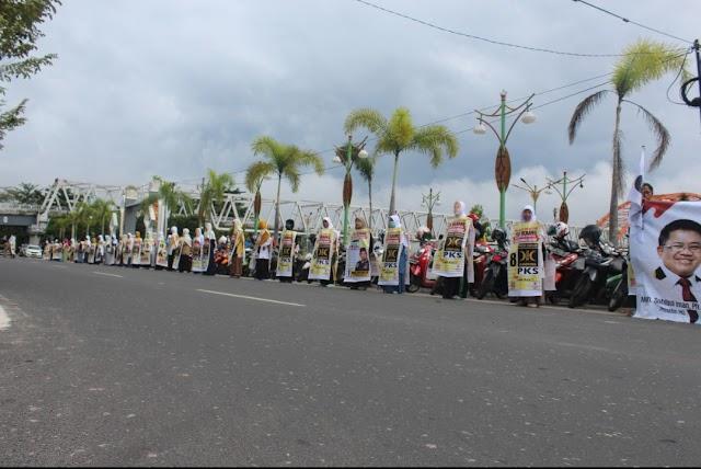 Ramainya Aksi Freeze Mob Kota Palangkaraya