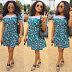Stylish Ladies Ankara Short Gowns Mixed With Lace