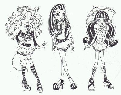 Monster High, Dibujos para Colorear, parte 1 - IMÁGENES PARA ...
