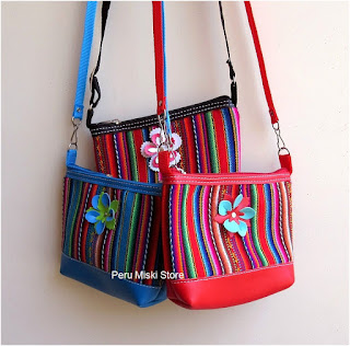 Handbags in badana and peruvian manta