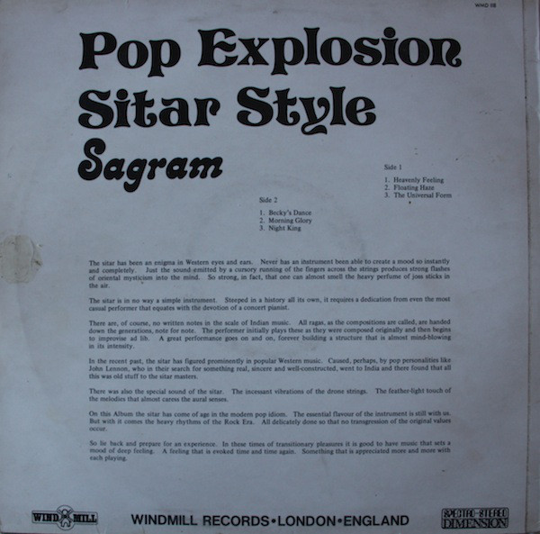 The real name of this artist is Sargam, mispelled by the label on the  cover, and was actually the band Magic Carpet, without Alicia Suffit on  vocals.