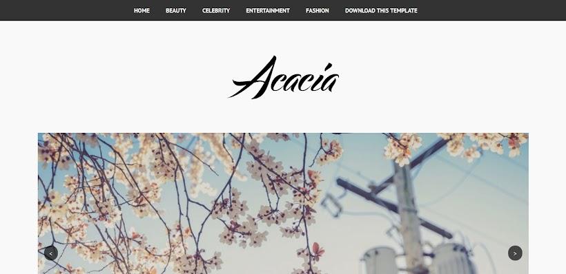 Acacia Minimal Free Blogger Template