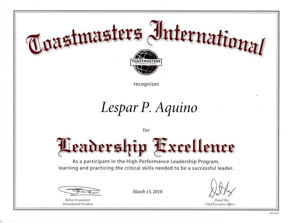 Toastmasters Speeches High Performance Leadership Program Milestones Post Workshop
