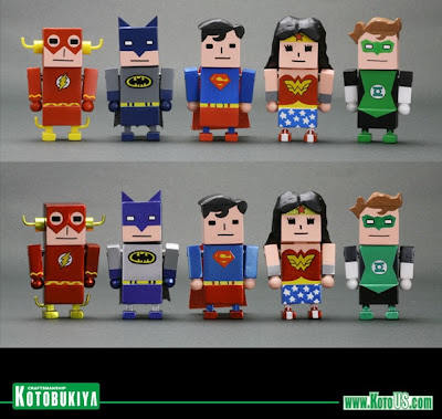 Justice League x Korejanai Mini Figure Series - The Flash, Batman, Superman, Wonder Woman & Green Lantern Vinyl Figures
