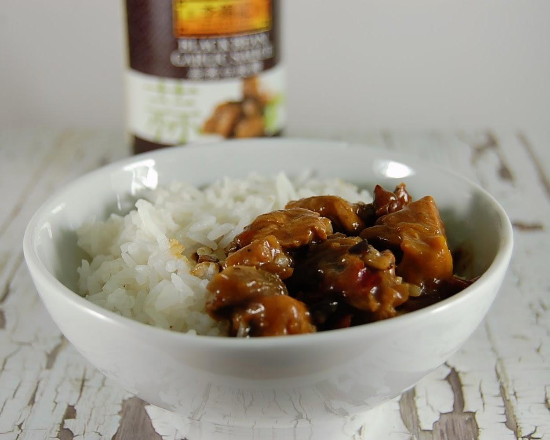 Hähnchen schmoren mit Black Bean Sauce