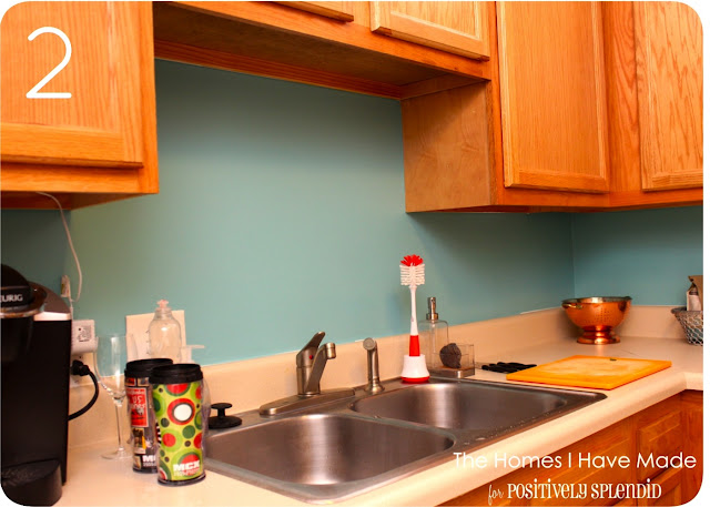 Kitchen Backsplash Necessary cross-hatch vinyl tile backsplash - positively splendid {crafts