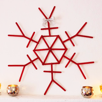 Popsicle sticks christmas wall decorations