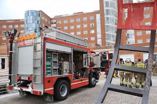 Simulacro de rescate de los bomberos en Cruces
