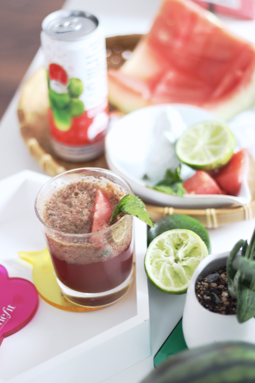 Thirsty Buddha Sparkling Watermelon Coconut Water Spritzer - Summer entertaining
