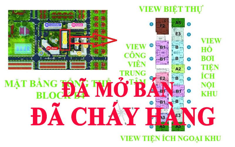 mat bang block B4 GreenTown Bình Tân