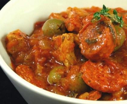 Sautéed veal with chorizo