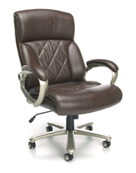 Brown Leather Big and Tall Office Chair