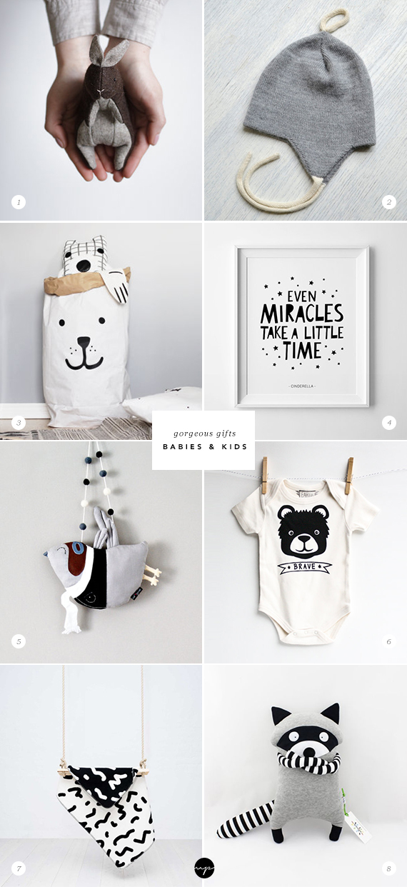 ETSY GIFT GUIDE: Babies and Kids