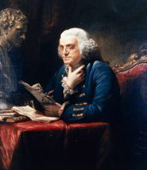 Franklin in London, 1767, painted by David Martin (12/31/1766)