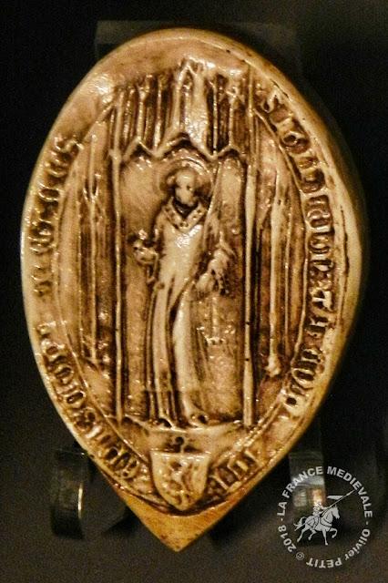 Sceau daté de 1296 appartenant à l'évêque Bouchard d'Avesnes (1282-1296)