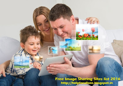 Top 50 Free Image Sharing Sites list 2016