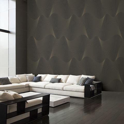 Nên lưu ý về cách thiết kế nội thất khi sử dụng mẫu giấy dán tường màu đen cho phòng ngủ