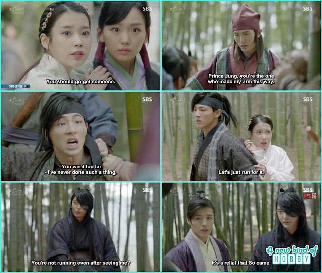 hae soo help 14th prince from his arm cut from the gangters  - Moon Lovers: Scarlet Heart Ryeo - Episode 4 Review