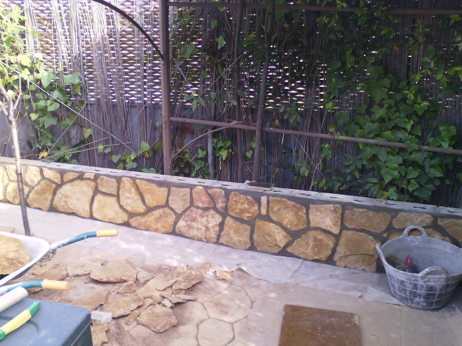 jardineras de obrachapado de piedra natural obra hecha