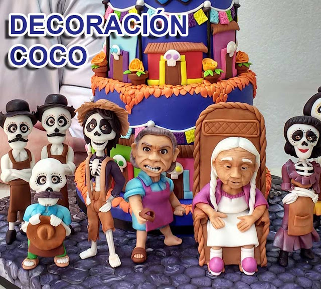 Decoracion Coco Birthday Party Fiesta de cumpleaños PASTEL COCO PIXAR DISNEY