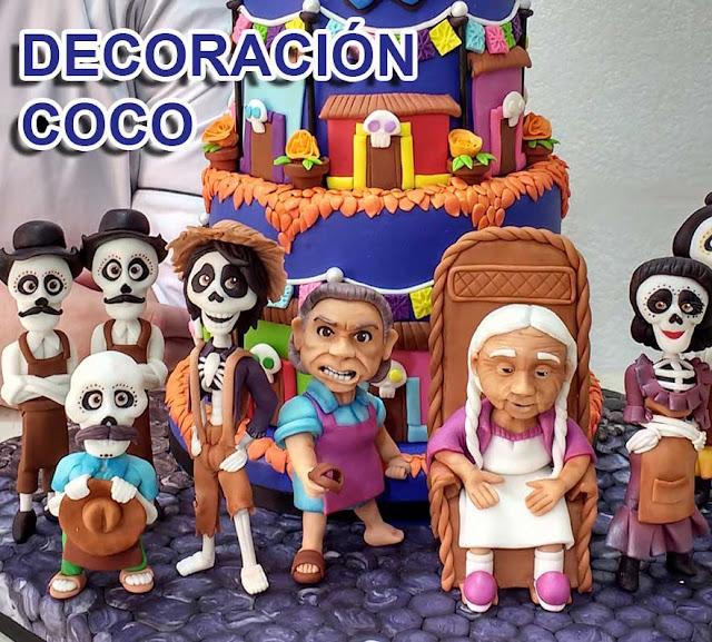 Decoracion Coco Birthday Party Fiesta de cumpleaños PASTEL COCO PIXAR DISNEY