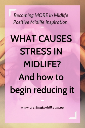 What causes stress in Midlife? Maybe it's trying to do or be something that is in conflict with our true self? #stress #midlife