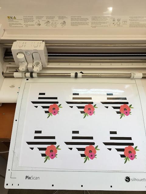 cut custom vinyl, cut custom printed vinyl pixscan, silhouette pixscan tutorial