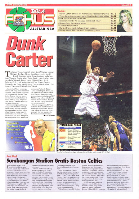 ALLSTAR NBA 2002 DUNK CARTER