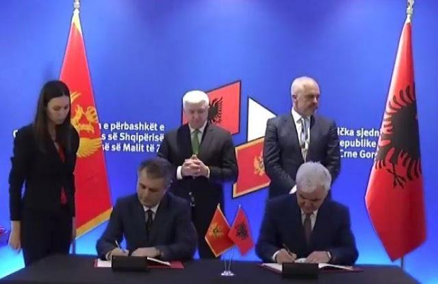 New border checkpoint between Albania and Montenegro in Zogaj, Xhafaj-Nuhodzic sign the agreement