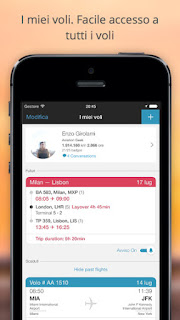 Flight Tracker e Guida aeroporti - App in the Air vers 5.1